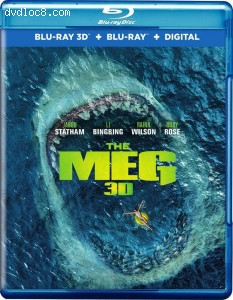 Meg, The [Blu-ray 3D + Blu-ray + Digital] Cover