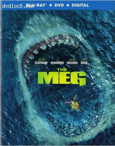 Meg, The (Wal-Mart Exclusive) [Blu-ray + DVD + Digital] Cover