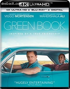 Cover Image for 'Green Book [4K Ultra HD + Blu-ray + Digital]'