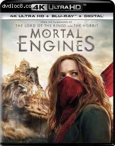 Cover Image for 'Mortal Engines [4K Ultra HD + Blu-ray + Digital]'