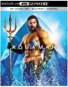 Cover Image for 'Aquaman [4K Ultra HD + Blu-ray + Digital]'