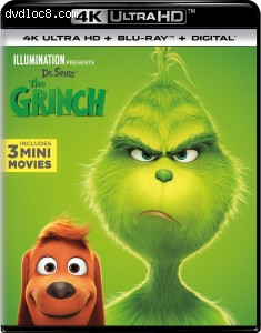 Cover Image for 'Dr. Seuss The Grinch [4K Ultra HD + Blu-ray + Digital]'