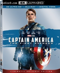 Cover Image for 'Captain America: The First Avenger (Cinematic Universe Edition) [4K Ultra HD + Blu-ray + Digital]'