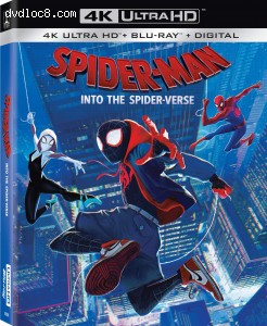 Cover Image for 'Spider-man: Into the Spider-verse [4K Ultra HD + Blu-ray + Digital]'