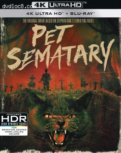 Cover Image for 'Pet Sematary (30th Anniversary Edition) [4K Ultra HD + Blu-ray + Digital]'