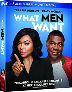 Cover Image for 'What Men Want [Blu-ray + DVD + Digital]'
