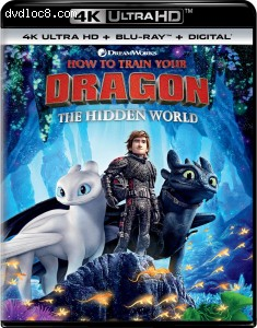 Cover Image for 'How to Train Your Dragon: The Hidden World [4K Ultra HD + Blu-ray + Digital]'