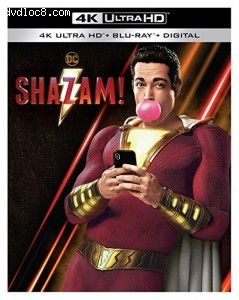 Cover Image for 'Shazam! [4K Ultra HD + Blu-ray + Digital]'