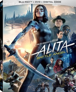 Alita: Battle Angel [Blu-ray + DVD + Digital]