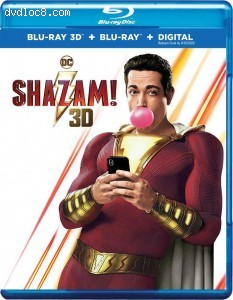 Shazam! (Best Buy Exclusive) [Blu-ray 3D + Blu-ray + Digital] Cover