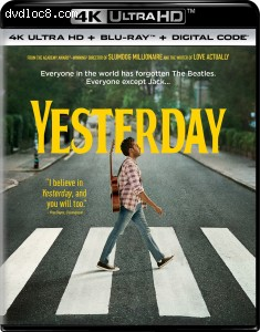 Cover Image for 'Yesterday [4K Ultra HD + Blu-ray + Digital]'