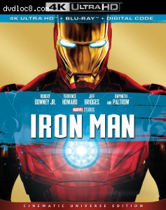 Cover Image for 'Iron Man [4K Ultra HD + Blu-ray + Digital]'