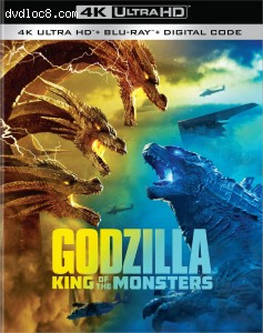 Cover Image for 'Godzilla: King of the Monsters [4K Ultra HD + Blu-ray + Digital]'