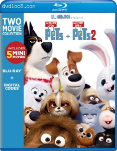 Cover Image for 'Secret Life of Pets 2-Movie Collection, The [Blu-ray + Digital]'