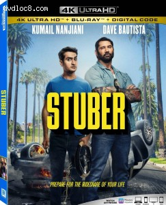 Cover Image for 'Stuber [4K Ultra HD + Blu-ray + Digital]'
