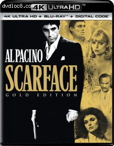 Cover Image for 'Scarface (Gold Edition) [4K Ultra HD + Blu-ray + Digital]'
