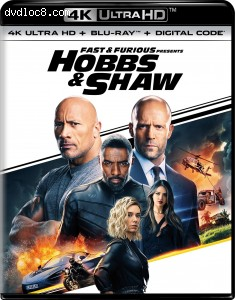 Cover Image for 'Fast & Furious Presents: Hobbs & Shaw [4K Ultra HD + Blu-ray + Digital]'