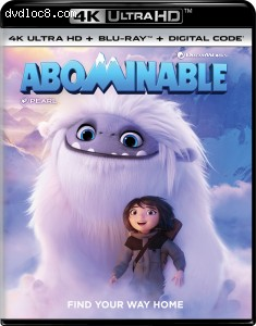 Cover Image for 'Abominable [4K Ultra HD + Blu-ray + Digital]'