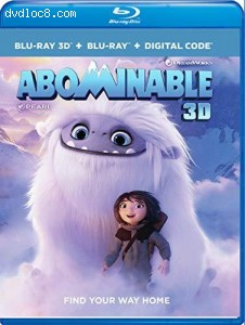 Cover Image for 'Abominable [Blu-ray 3D + Blu-ray + Digital]'