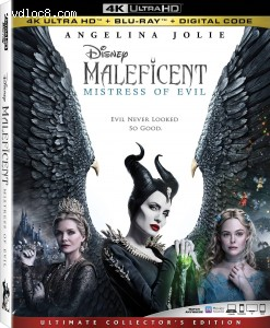 Maleficent: Mistress of Evil [4K Ultra HD + Blu-ray + Digital] Cover