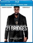 Cover Image for '21 Bridges [Blu-ray + DVD + Digital]'