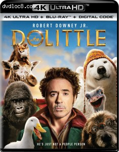 Cover Image for 'Dolittle [4K Ultra HD + Blu-ray + Digital]'