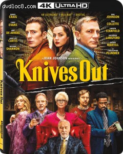 Cover Image for 'Knives Out [4K Ultra HD + Blu-ray + Digital]'