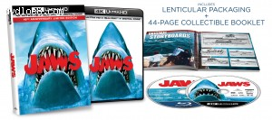 Cover Image for 'Jaws (45th Anniversary Edition) [4K Ultra HD + Blu-ray + Digital]'