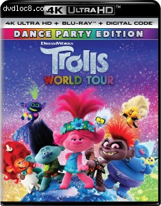 Cover Image for 'Trolls World Tour (Dance Party Edition) [4K Ultra HD + Blu-ray + Digital]'