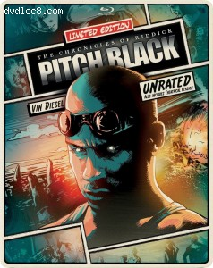 Cover Image for 'Pitch Black: Unrated (Limited Edition SteelBook) [Blu-ray + DVD]'