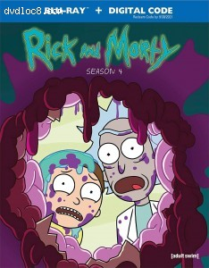 Cover Image for 'Rick and Morty: Season 4 [Blu-ray + Digital]'