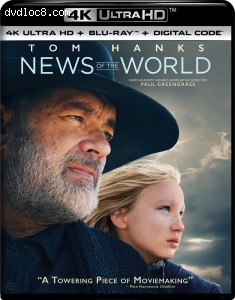 Cover Image for 'News of the World [4K Ultra HD + Blu-ray + Digital]'