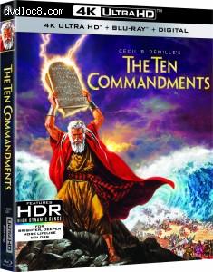 Cover Image for 'Ten Commandments, The [4K Ultra HD + Blu-ray + Digital]'