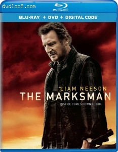 Cover Image for 'Marksman, The [Blu-ray + DVD + Digital]'