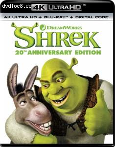 Cover Image for 'Shrek (20th Anniversary Edition) [4K Ultra HD + Blu-ray + Digital]'
