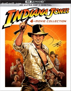 Cover Image for 'Indiana Jones: 4-Movie Collection [4K Ultra HD + Digital]'
