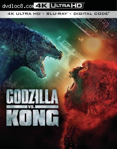 Cover Image for 'Godzilla vs. Kong [4K Ultra HD + Blu-ray + Digital]'