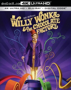 Cover Image for 'Willy Wonka and the Chocolate Factory [4K Ultra HD + Blu-ray + Digital]'